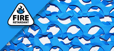 Blue Camo Netting